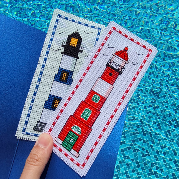 Lighthouse cross stitch designs by Kate Spiridonova