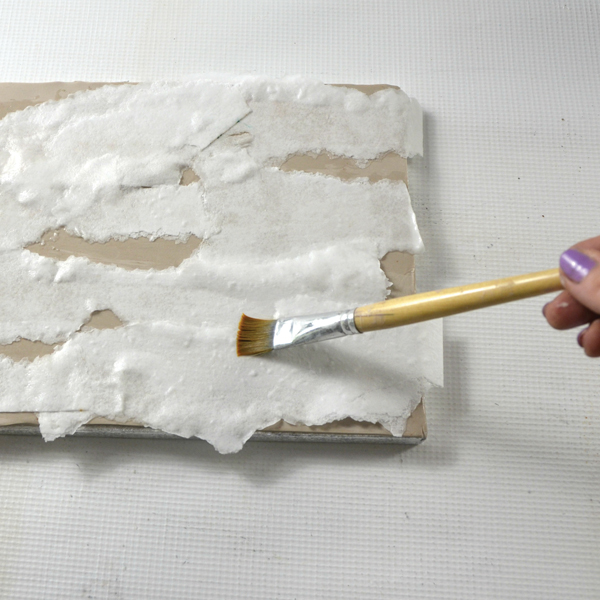 Wood bark cake texture with wafer paper