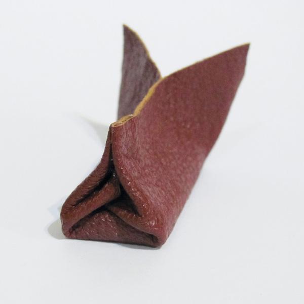 folded leather