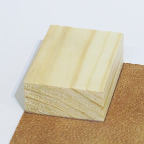 miniature timber on leather