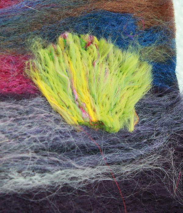 Stabbing wool top fibre bushes