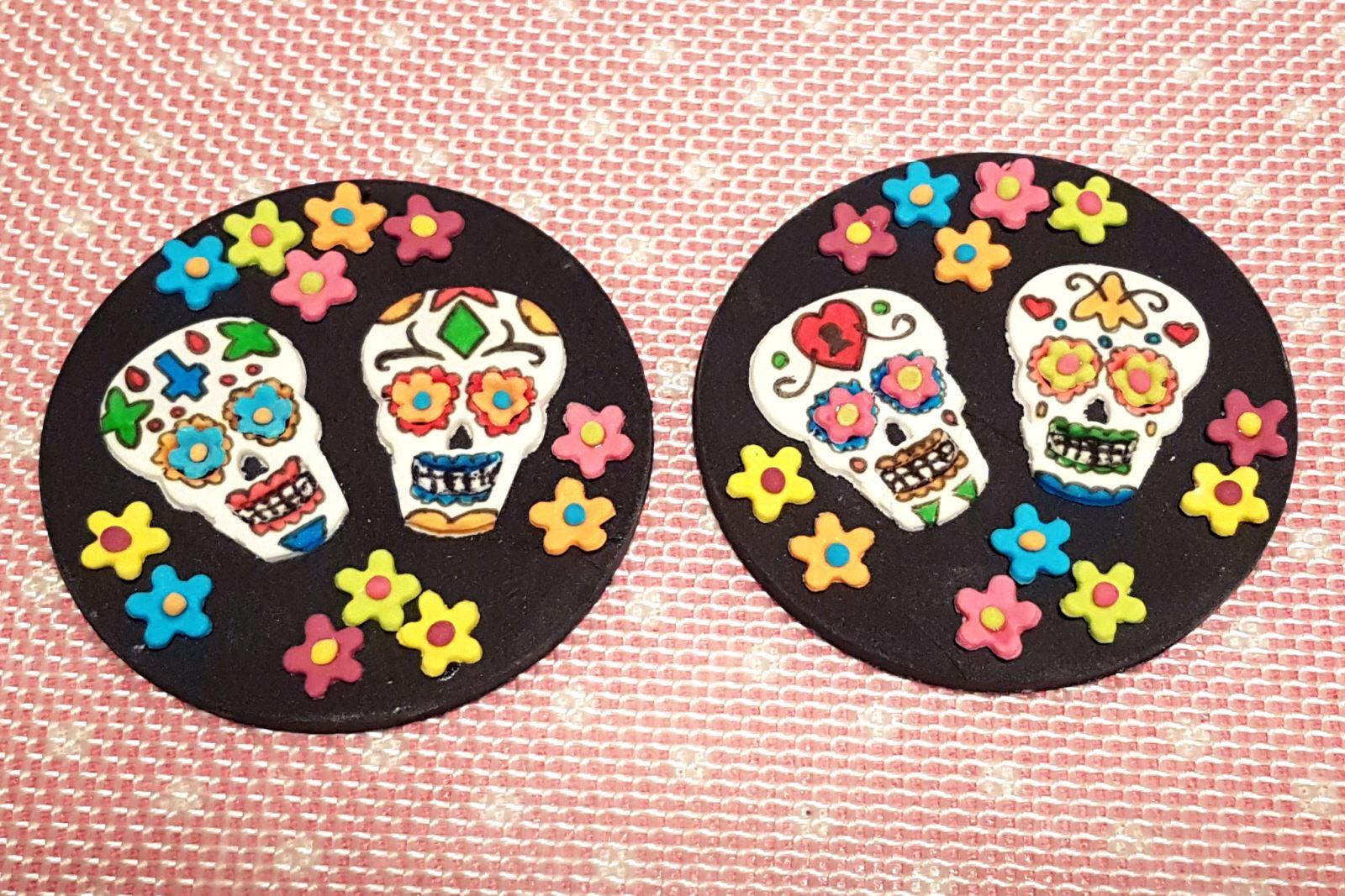 Sugar skull toppers