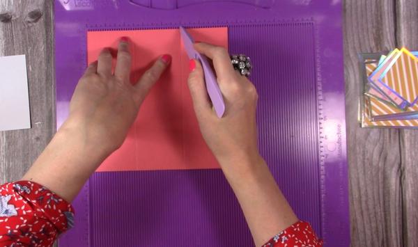 scoring cardstock for exploding box card