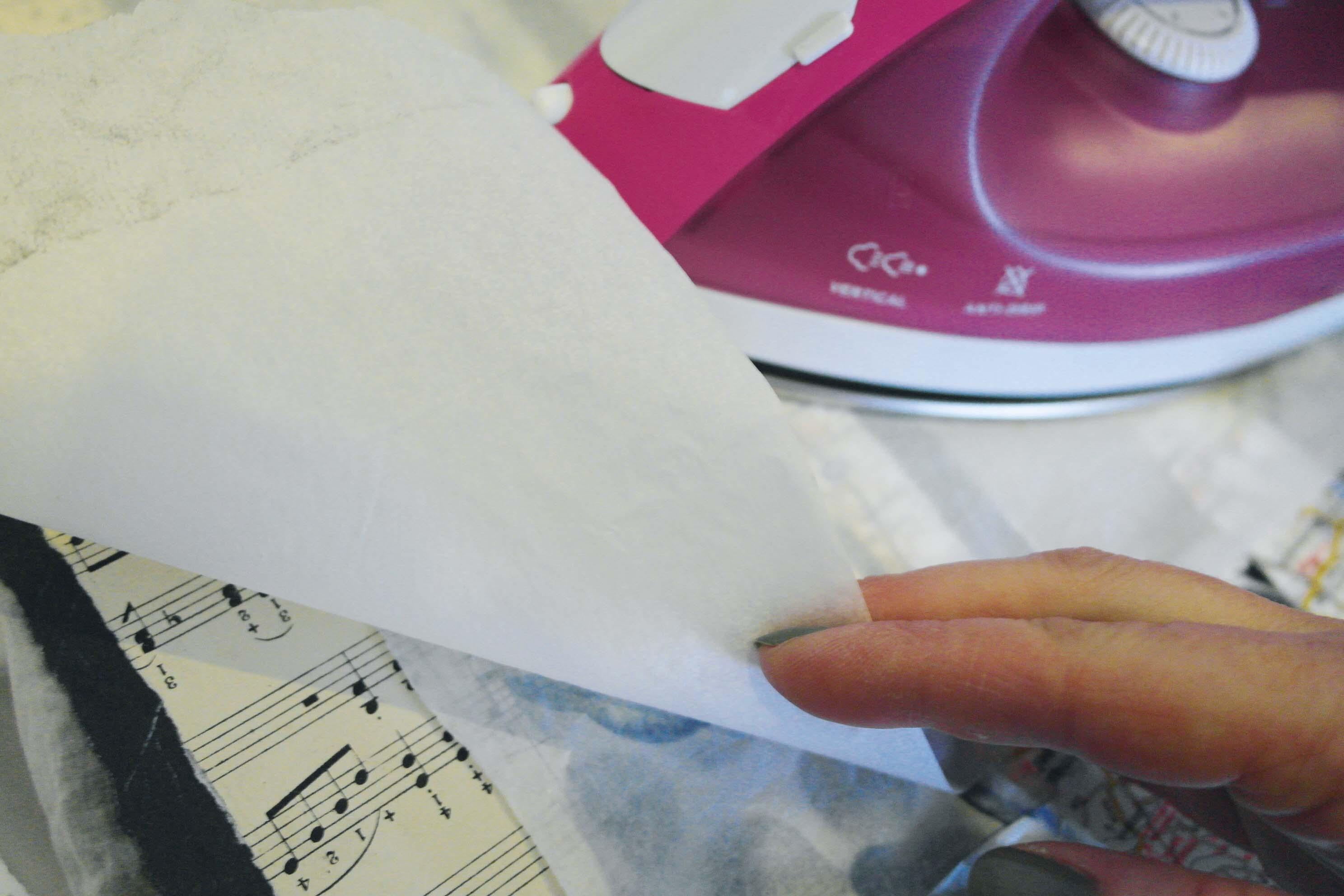 Ironing on the interfacing
