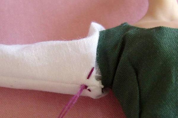 Starting invisible stitch