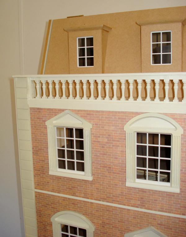 Dolls house brickwork