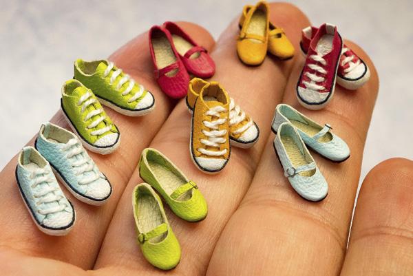 Patrizia Santi miniature trainers and shoes