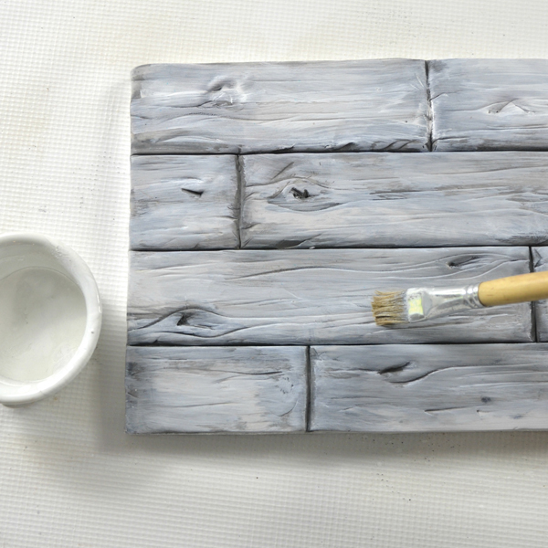 White wash on painted wood cake texture