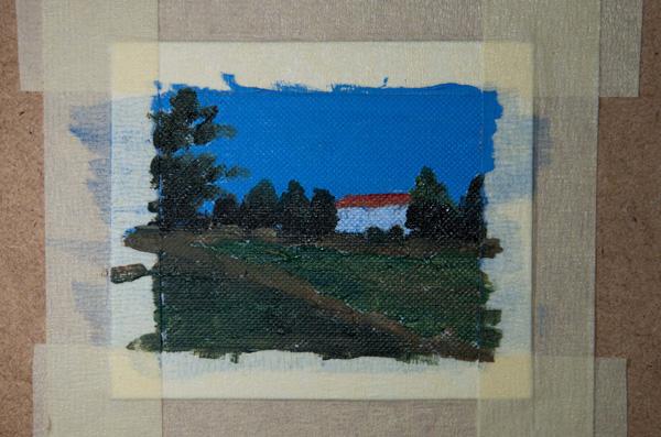 miniature oil painting in progress