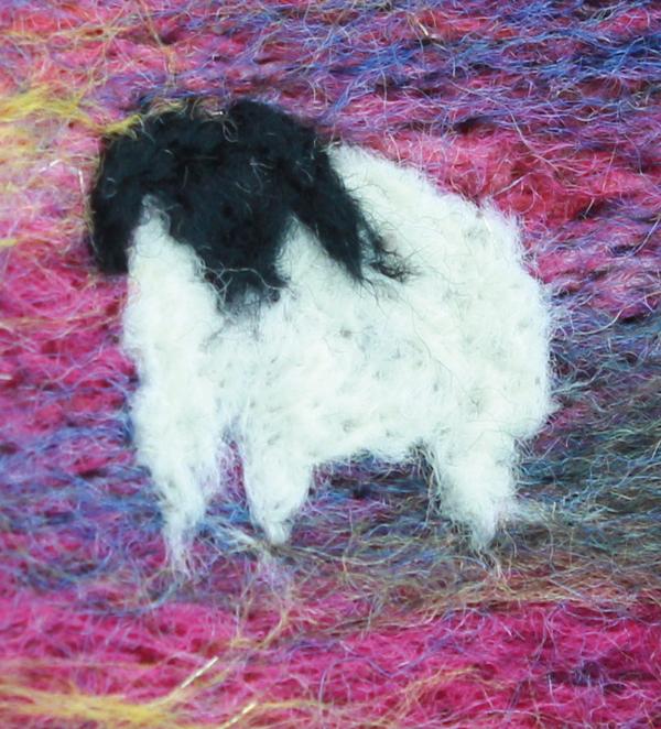 Sheep created using Merino wool top fibres