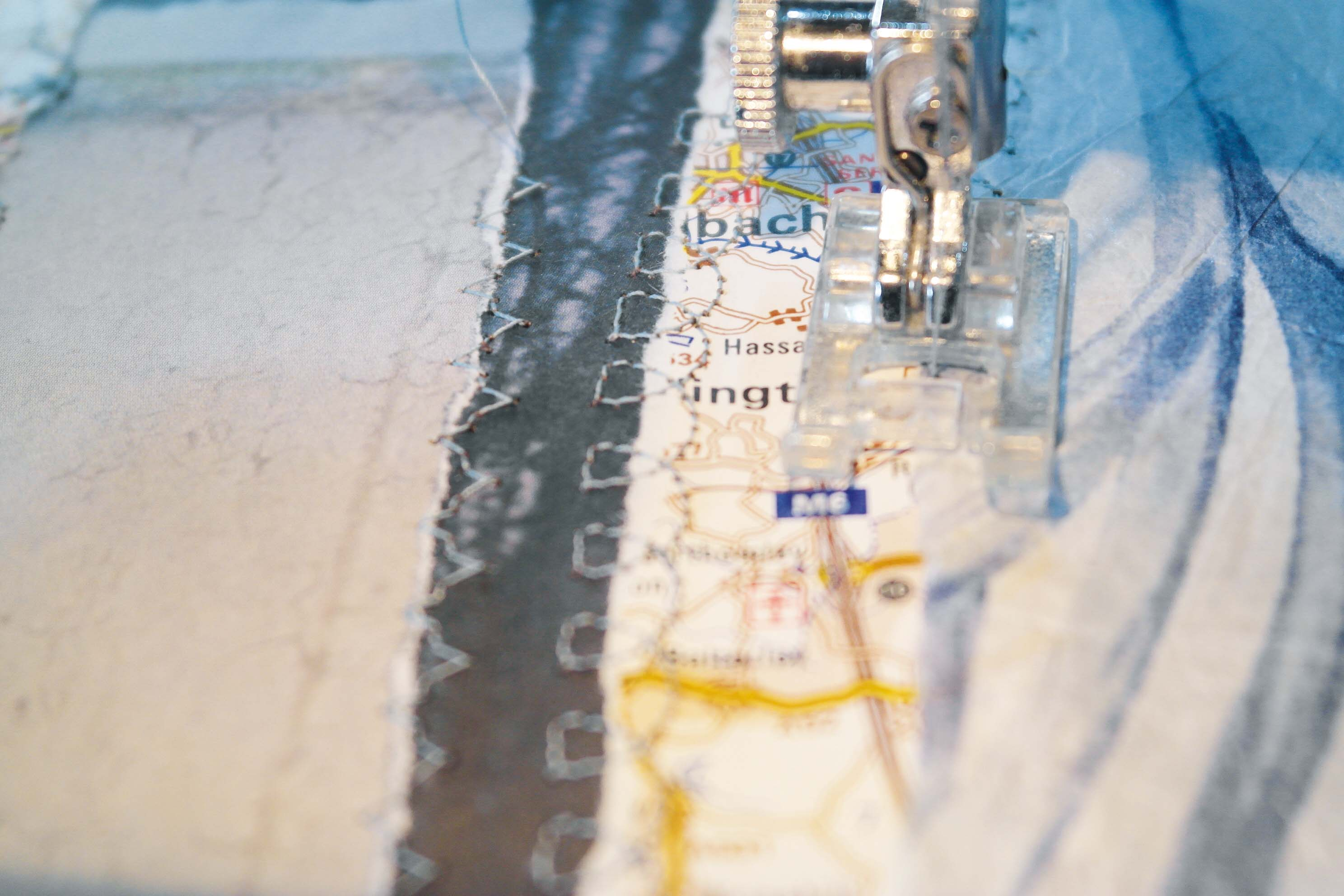 Setting up sewing machine