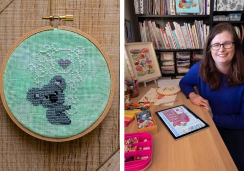 Ange – FiddlesticksAU with koala cross stitch design