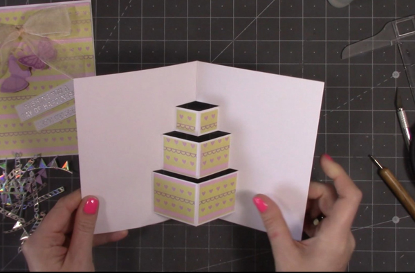 adhering-decorative-paper-to-pop-up-card