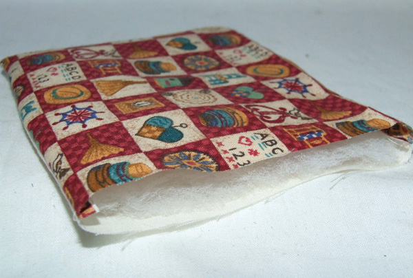 wadding material in miniature quilt cover