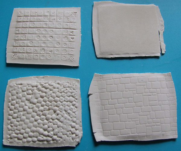 miniature flooring styles on paperclay