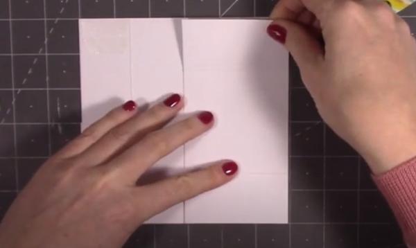 Attaching third piece of card vertically