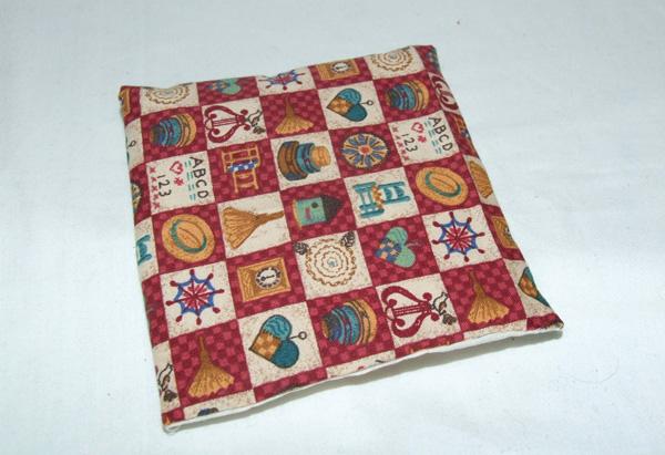 stitched miniature patchwork quilt