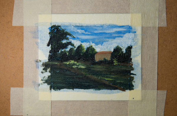 light colours added to miniature oil painting
