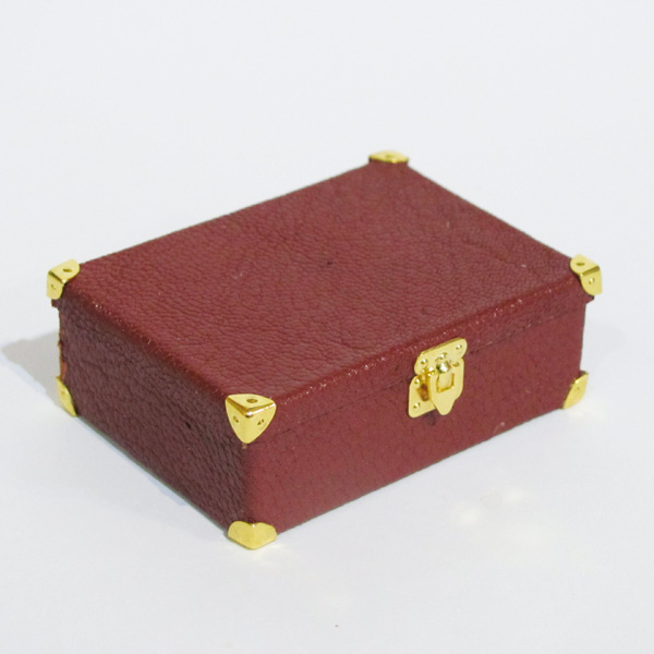 miniature leather suitcase without handle