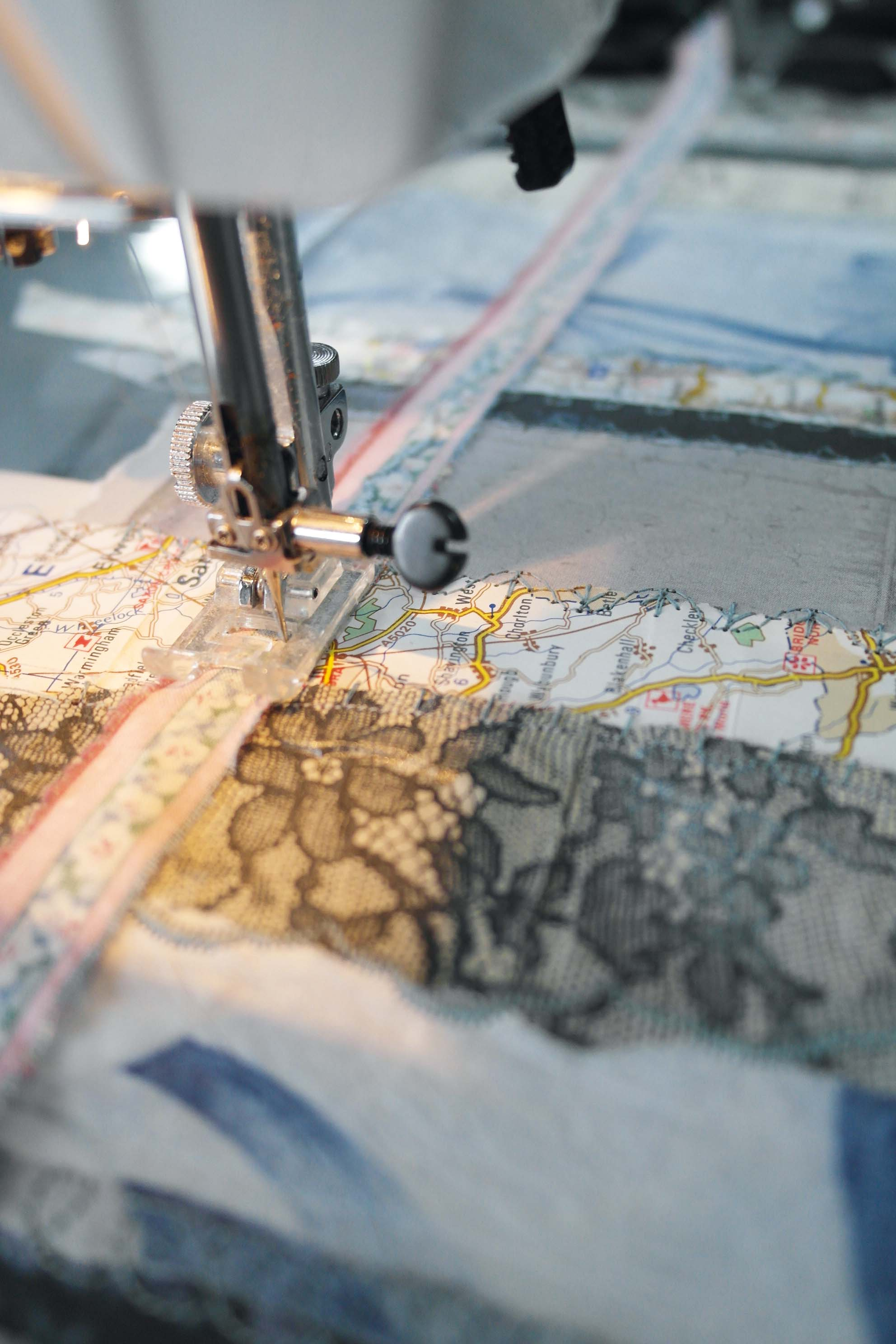 Sewing a strip of fabric