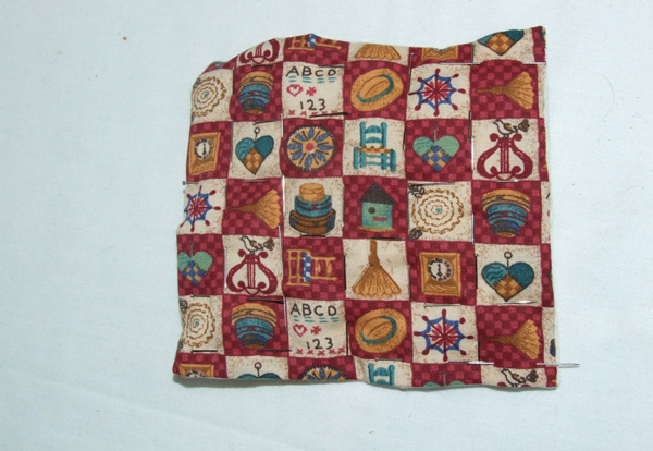 dolls house sized patchwork quilt
