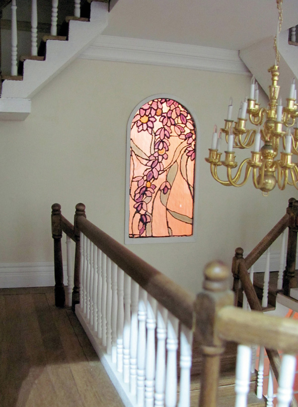 miniature stained glass feature window