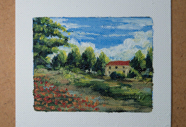 Finished miniature oil painting