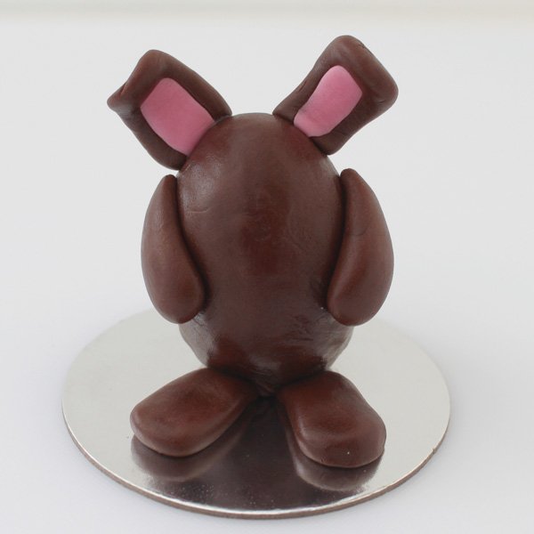 Ears stuck in place on fondant bunny
