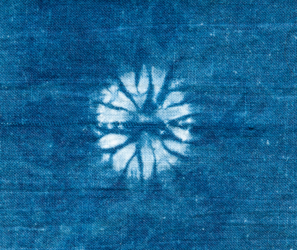 Shibori stylised floral pattern