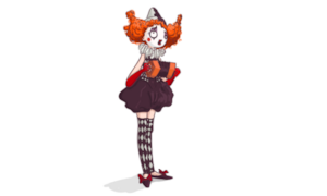 Accordion clown digi stamp in colour