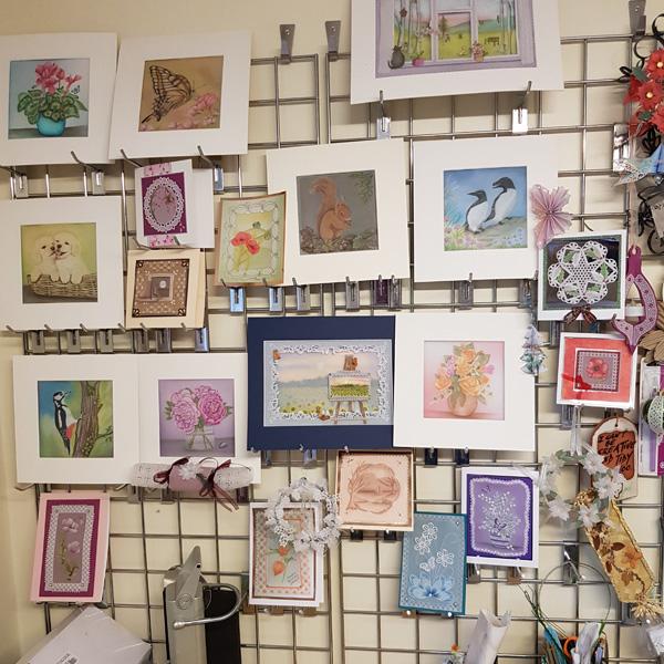 Alison Yeates craft room wall
