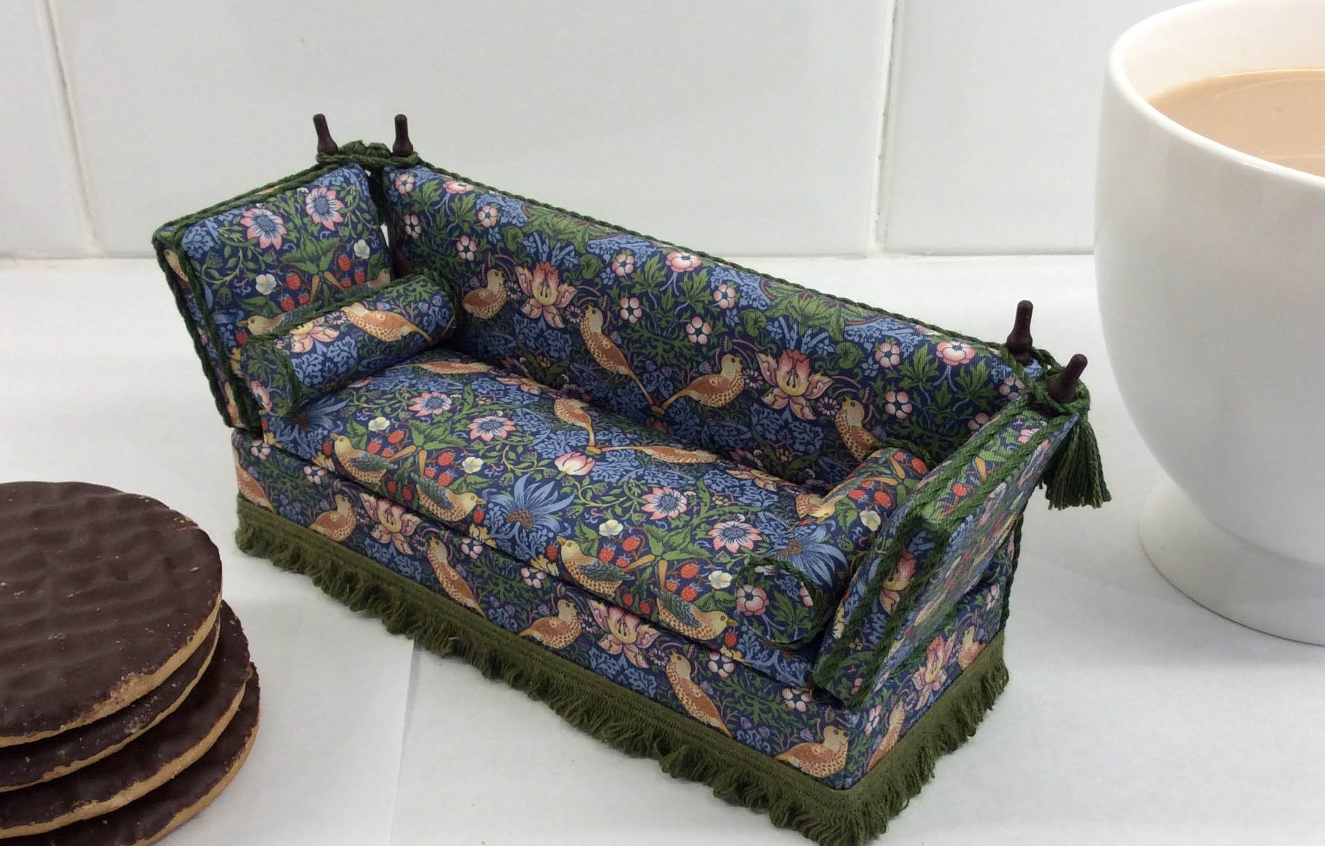 Arlettes Miniatures handcrafted miniature sofa