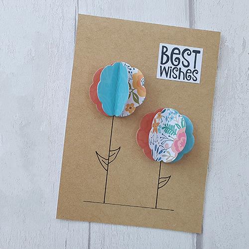 Flower pop-up card