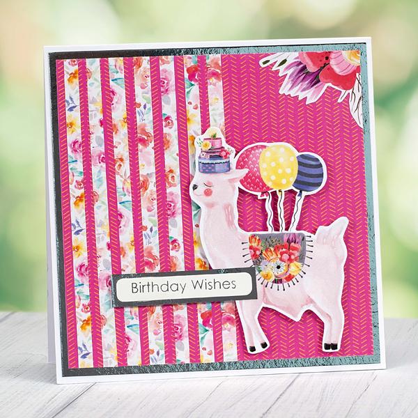 Birthday Wishes llama birthday card
