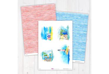 Blue-Skies Digi Craft Paper Collection