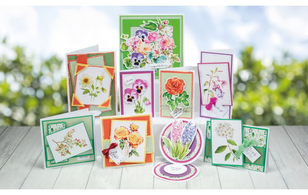 Flower card making ideas: 9 vintage botanical designs