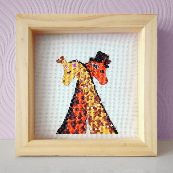 Giraffes cross stitch design by Vicky's World
