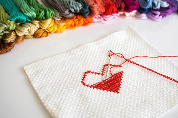 heart cross stitch design