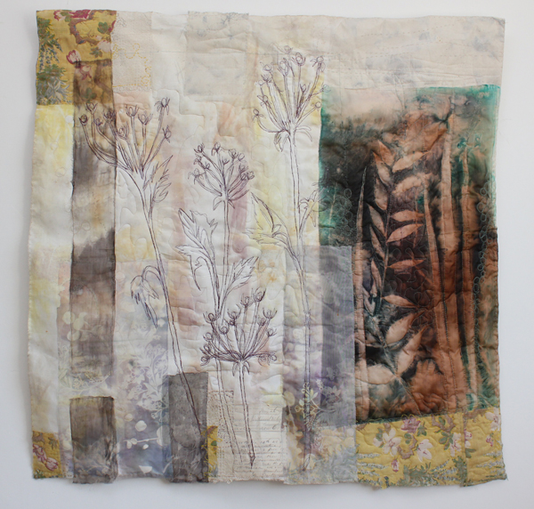 Cas Holmes mixed media winter grasses