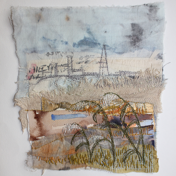 Cas Holmes - The Waste Land mixed media embroidery technique