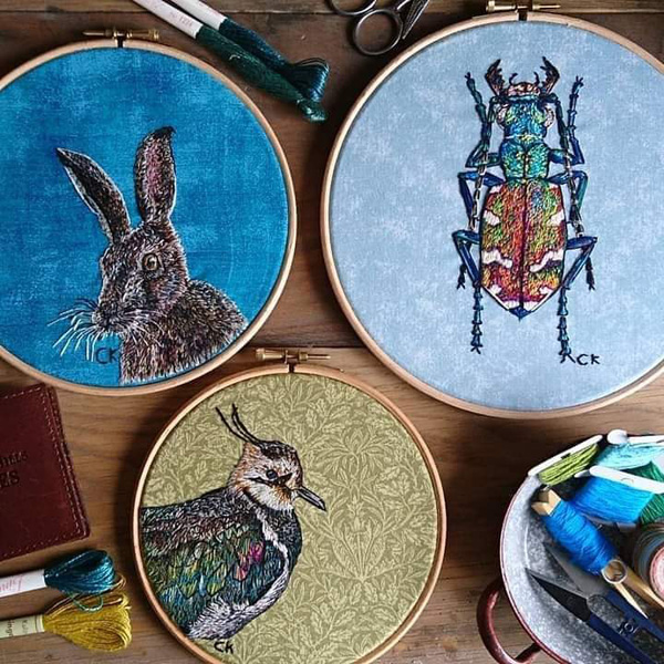 Collette Kinley nature embroideries
