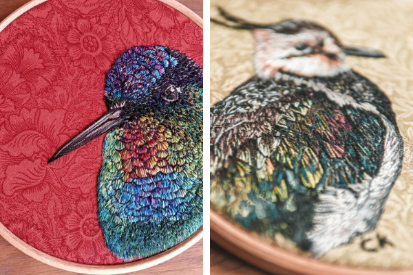 Collette Kinley sewing bird embroidery