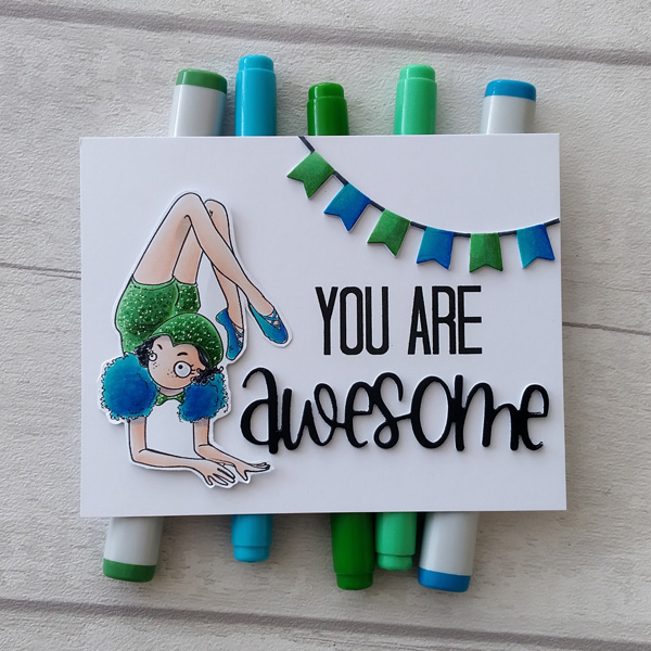 Contortionist card with you're awesome sentiment