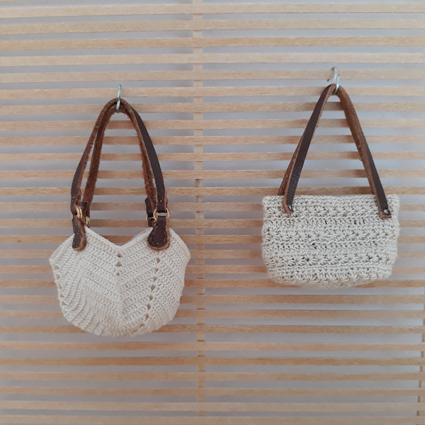 Crochet granny square and star stitch bags by Evelien Van Onna