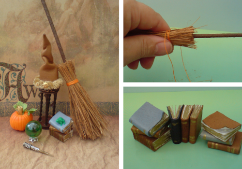 1/12th scale dolls house wizard's set