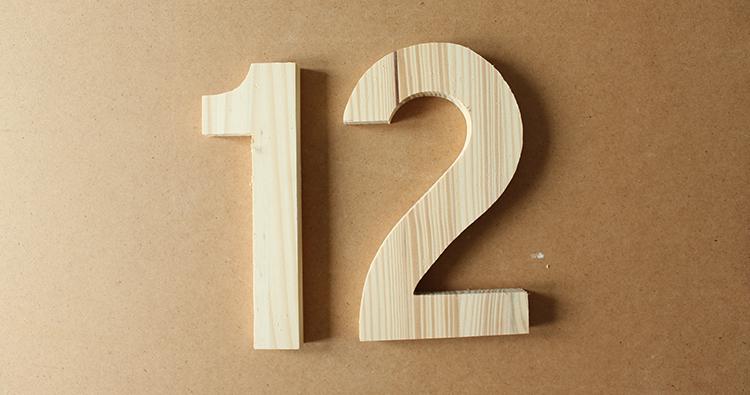 diy number crafty gent