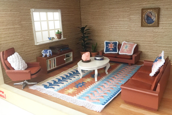 Dianne Fisher miniature living room design