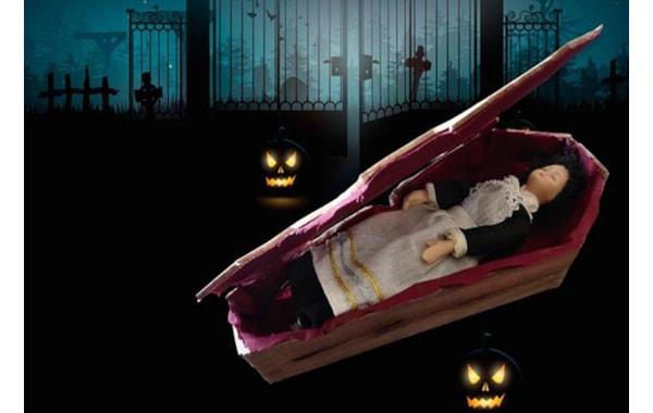 Dolls house miniature coffin Halloween project