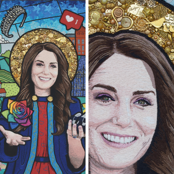 Duchess of Cambridge beaded embroidery by Sarah Gwyer