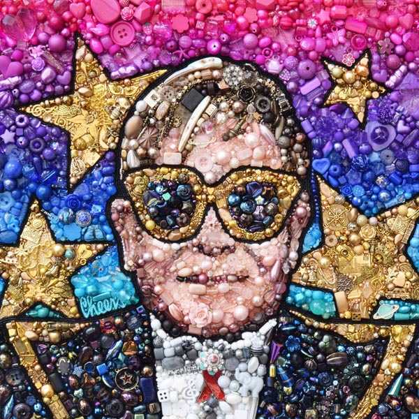 Elton John beaded embroidery Sarah Gwyer
